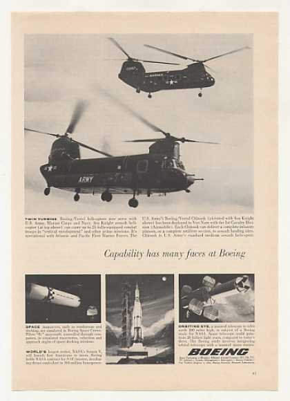 Boeing Vertol Sea Knight Chinook Helicopters (1965)
