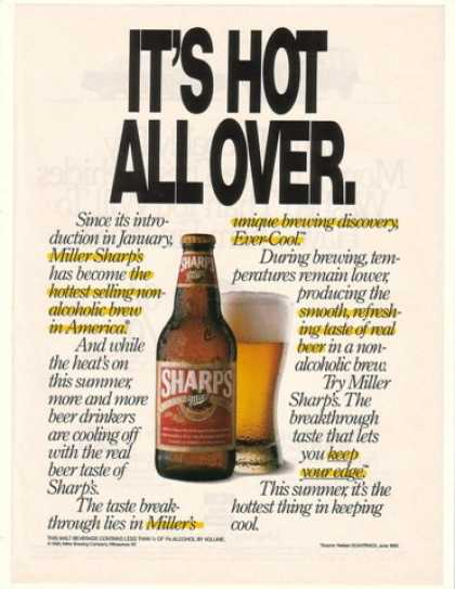 Miller Sharp's Non-Alcoholic Beer Hot All Over (1990)