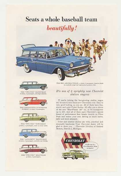 Chevy Bel Air Beauville Station Wagon 6 Models (1956)