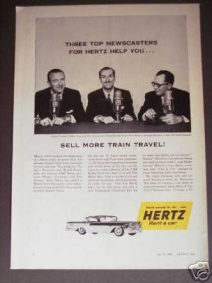 Walter Cronkite Photo Hertz Rent a Car (1958)