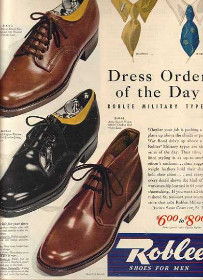 Roblee's Military Types of men's shoes (1943)