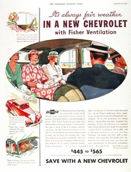 Chevrolet Fisher Ventilation (1933)