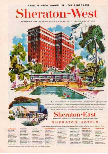 Sheraton – West Hotel – Los Angeles (1958)