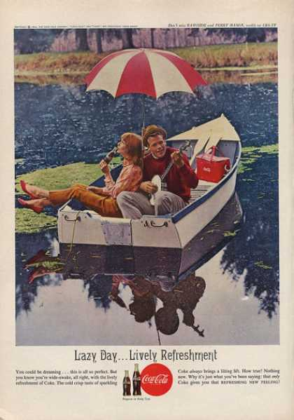 Coke Coca Cola Row Boat Boy Girl Romance Banjo (1962)