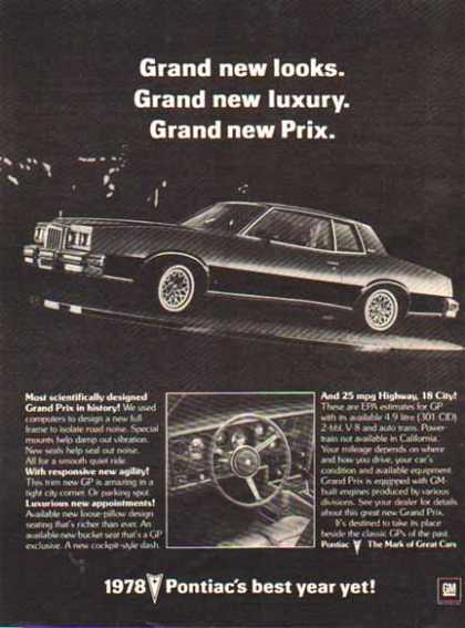 Pontiac Car – Grand Prix – Sold (1978)