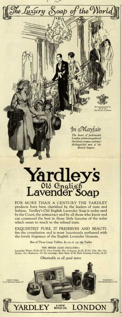 Yardley & Co., Ltd.'s Old English Lavender Soap – The Luxury Soap of the World (1926)