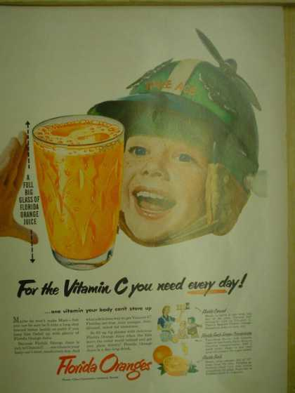 Florida Oranges For the vitamin C you need every day. Space Ace child theme (1953)