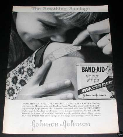 Band-aid Sheer Strip, Johnson, Exc (1961)