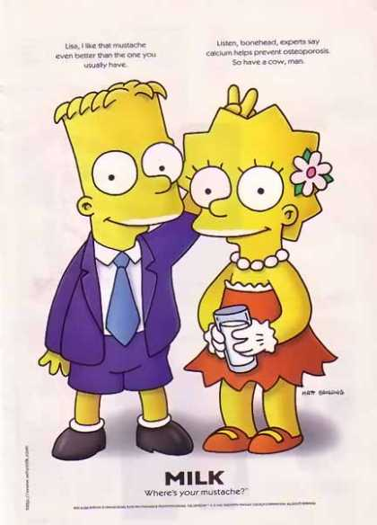 Bart & Lisa Simpson – GOT MILK (1997)
