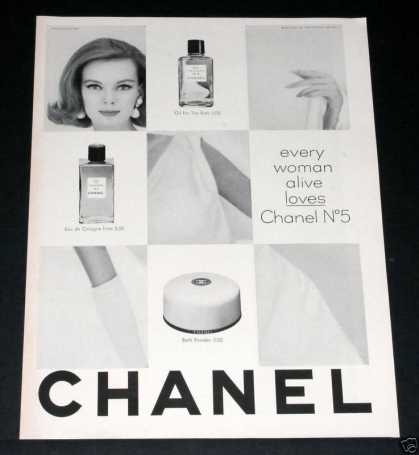 "Old , Chanel No. 5, ""Women Love"" (1963)"