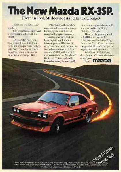 "Mazda Rx-3sp ""Sp Not Slowpoke"" Car (1977)"