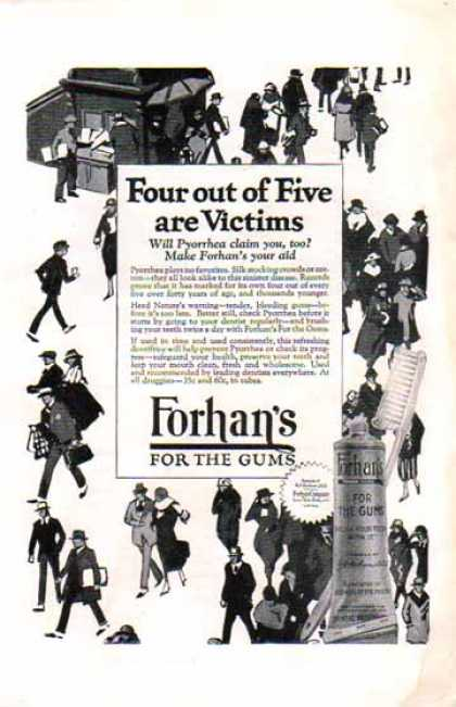 Forhan's For Gums – Four out of Five are Victims (1924)