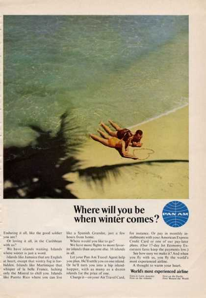 Pan Am Carribean Beach Heart Couple (1965)