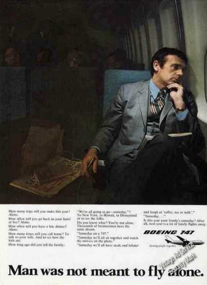 "Boeing 747 ""Man Was Not Meant To Fly Alone"" (1973)"