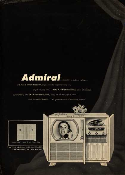 Admiral Corporation's Television Combinations – tv, radio, phonograph – Admiral (1950)