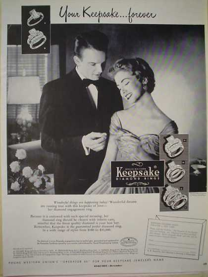 Keepsake Diamond Rings Your Keepsake Forever (1953)