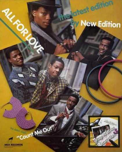 New Edition Photos Debut Single Promo (1985)