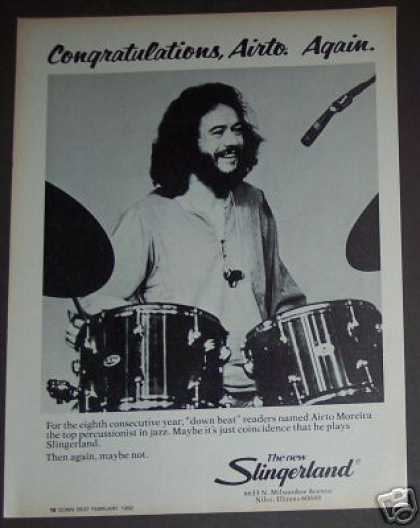 Airto Moreira Photo Slingerland Drums (1982)