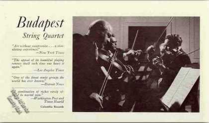 Budapest String Quartet Photo Trade (1960)