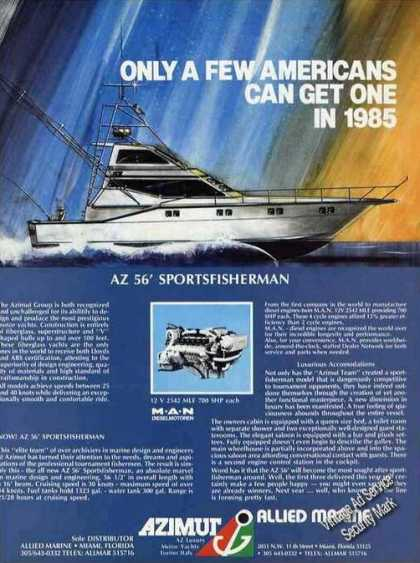 Az 56' Sportsfisherman Art Only a Few Can Get (1985)