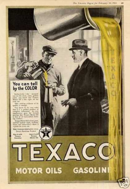 "Texaco Oil Color Ad ""You Can Tell... (1923)"