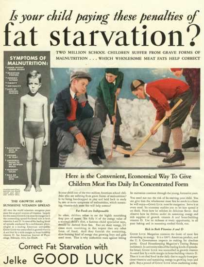 Humour Jelke Good Luck Fat Starvation, USA (1920)