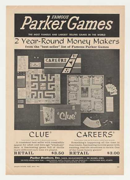 Parker Brothers Clue Careers Games (1961)