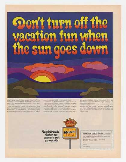 Best Western Motel Don't Turn Off Sun Goes Down (1968)