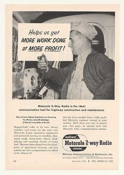 Motorola 2-Way Radio Highway Dept (1954)
