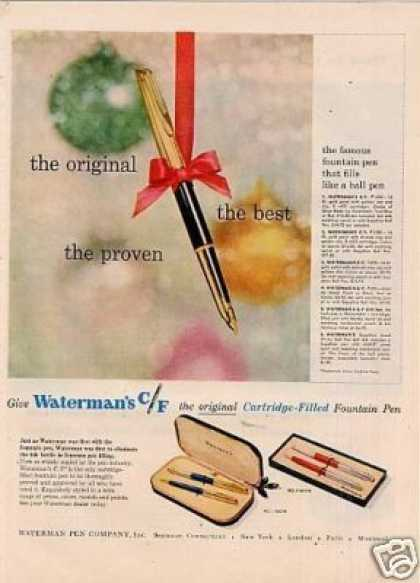 Waterman C/f Fountain Pen (1957)