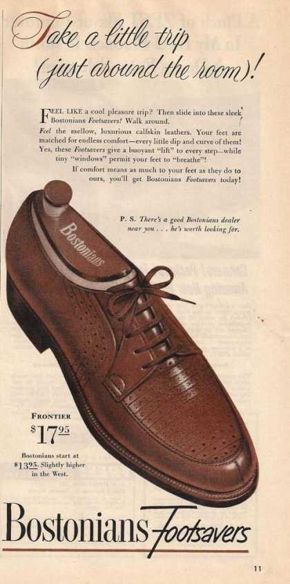 Bostonians Footsavers Mens Shoes (1950)