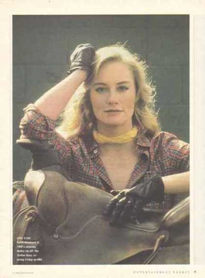 Cybill Shepherd Magazine Photo – The Yellow Rose (1983)