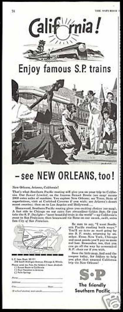 SP Southern Pacific Train Railroad New Orleans (1948)