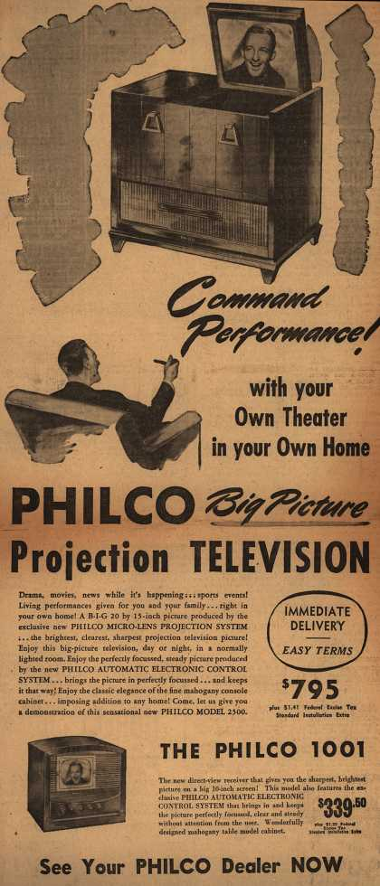 Philco's Television – Command Performance with your own theater in your own home (1948)