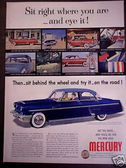 Mercury V-8 Sedan Blue Car (1953)