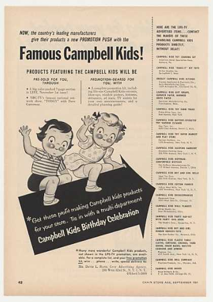 Campbell Kids Toys Products (1954)