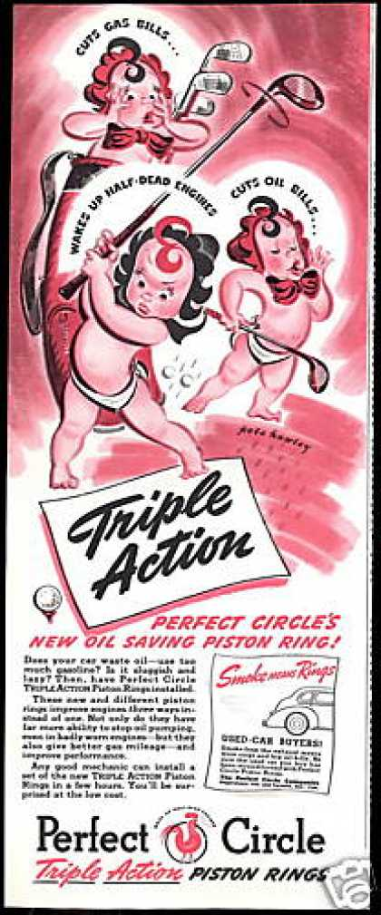 Perfect Circle Piston Rings Baby Golf Hawley (1940)
