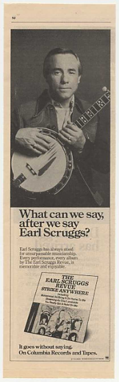 Earl Scruggs Strike Anywhere Album Promo Photo (1977)