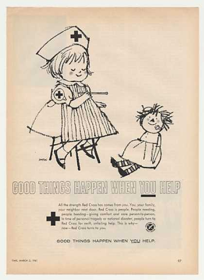 Red Cross Nurse Girl Doll Hampson art (1961)