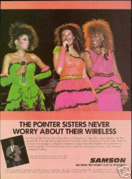 Pointer Sisters Photo Samson Microphone Vintage (1986)
