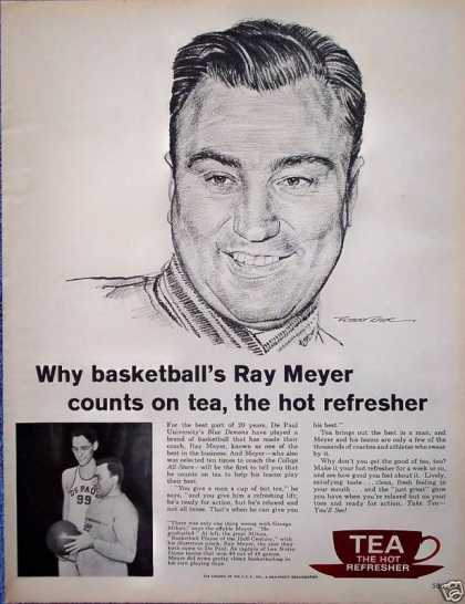 Tea Council Ray Meyer De Paul University Coach (1961)
