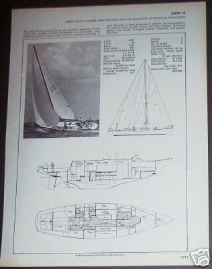 Irwin 43 Yacht Sailboat Boat Spec Page (1971)