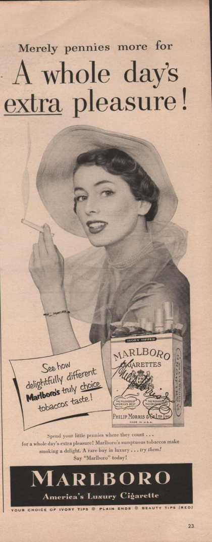 Marlboro Cigarette Extra Pleasure (1950)