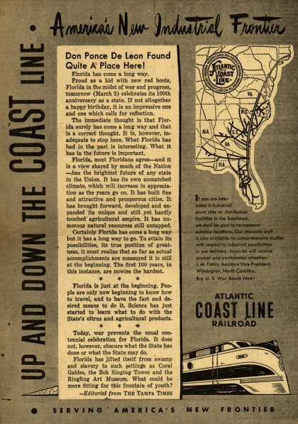Atlantic Coast Line Railroad's Florida – America's New Industrial Frontier (1945)