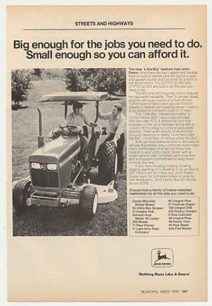 John Deere Little-Big 850 Tractor Photo (1978)