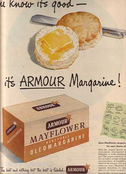 Armour's Mayflower Vegetable Oleomargarine (1948)
