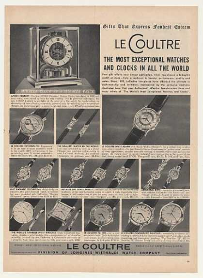 Le Coultre Atmos Century Clock 15 Style Watches (1955)