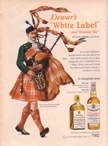 Dewar's White Label – Clan of Menzies (1948)