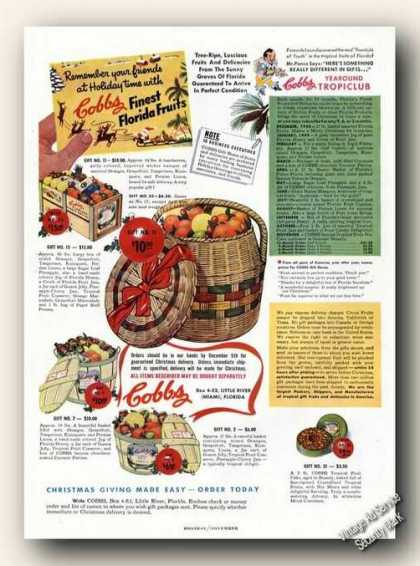 Cobbs Finest Florida Fruits Little River Fl (1948)