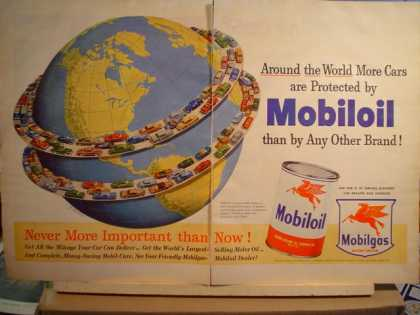 Mobil Oil 2pg around the world (1951)